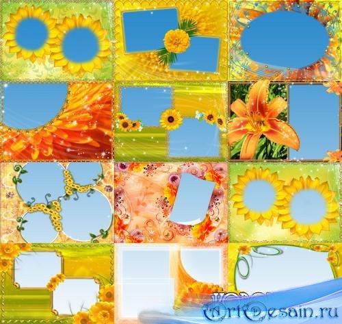 Цветочные рамки для фото