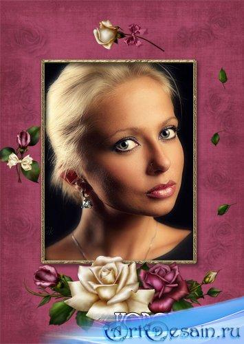 Рамка для фото - Античные розы