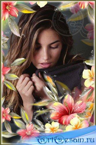 Рамка для фотошопа - Самые красивые цветы