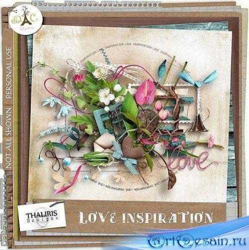 Романтический скрап-набор - Любовь вдохновляет