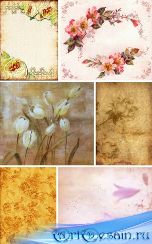 Винтажные цветочные фоны
