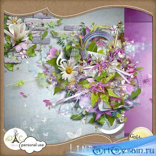 Симпатичный цветочный скрап-набор - Линдси