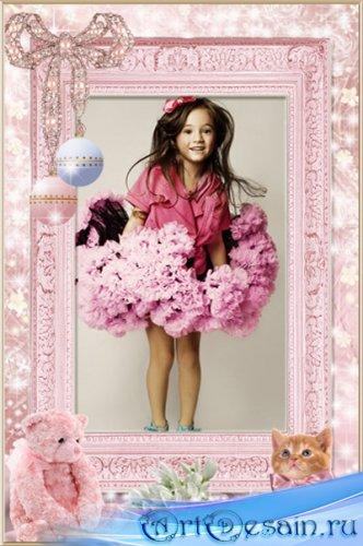 Рамка для фотошопа Гламурная девчонка