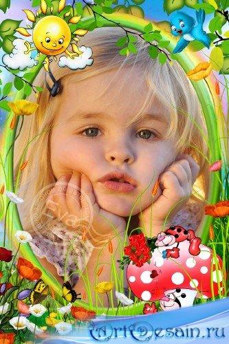 Детская фоторамка - Божьи коровки
