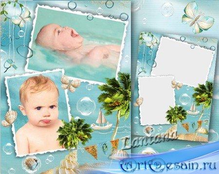 Детская рамка - Шумит моё море в ракушке