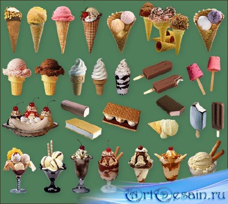 Клипарт для фотошоп - Мороженое