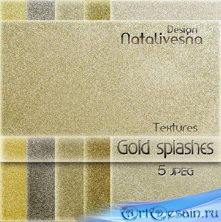 Текстуры для Photoshop - Золотые брызги