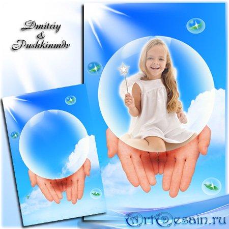 Фоторамка - Девочка в шаре