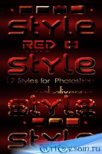 Красные стили  для Photoshop