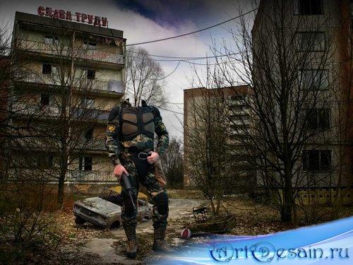 Шаблон для фотошопа – Сталкер в Припяти