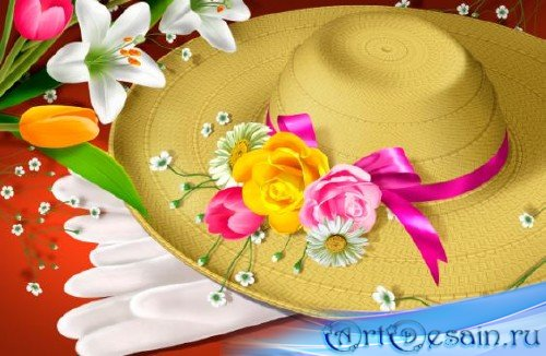 PSD исходник - Flowers and hats