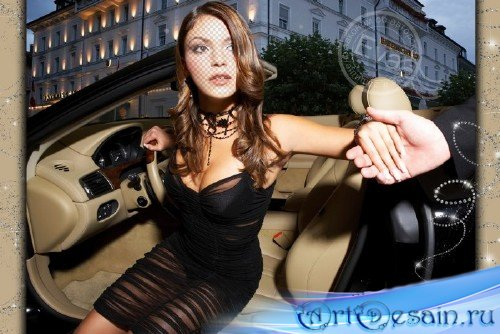 Женский шаблон для фотошопа - Леди-ночь