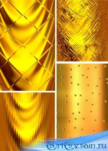Растровые фоны - Металлическое золото