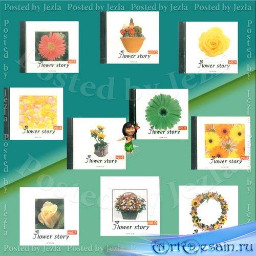 Коллекция графики Цветочная Тема - Flower Story