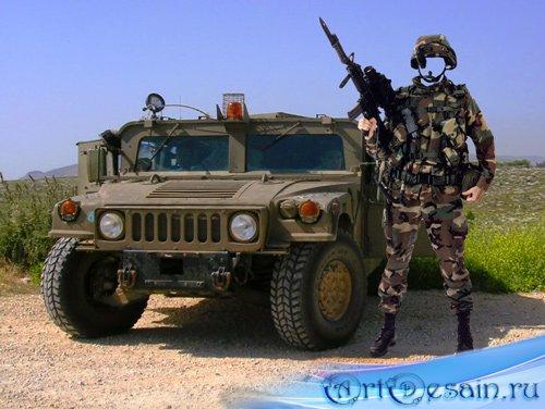 Шаблон для фотошопа – Солдат спецназа США