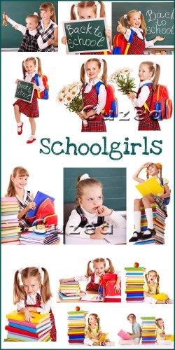 Фото - Школьницы- растровый клипарт|  School girl  - Stock Photo