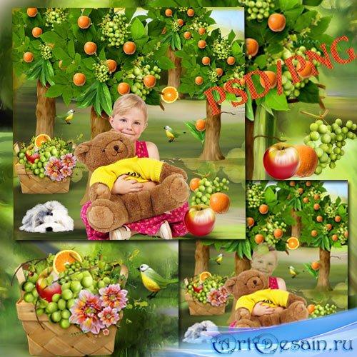 Шаблон для фотошопа - Райский сад
