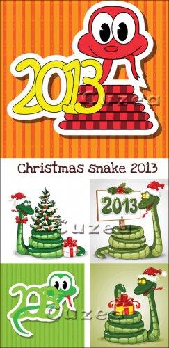 Рождественская змея 2013 года в векторе