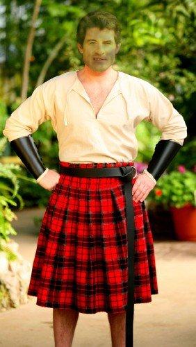 Мужской шаблон для монтажа - Шотландец
