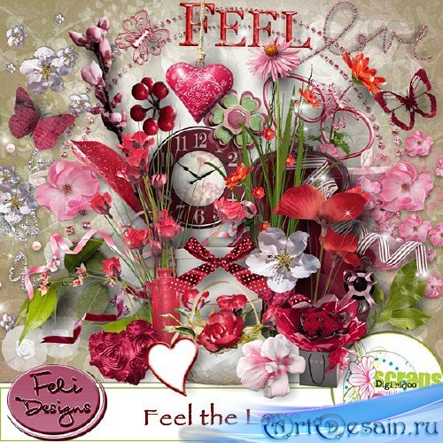 Романтический скрап-набор - Ощущение любви