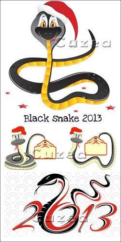 Черная змея в векторе 2013