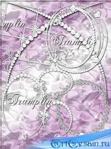 Клипарт в  Png – Жемчуг, алмазы, банты – Мои жемчужные фантазии