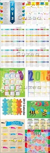 Календарь на 2013 год в векторе, часть 3