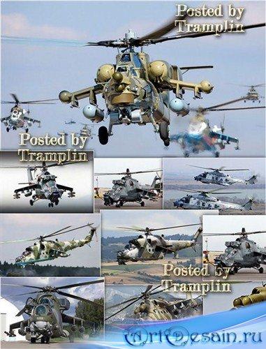 Фото - Клипарт – Под лепестками вертолета