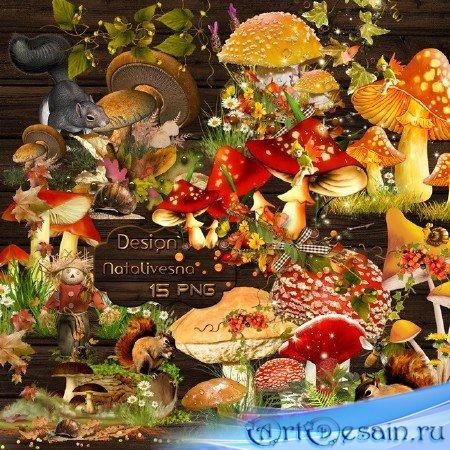 Осенние композиции – Грибочки Мухоморчики …