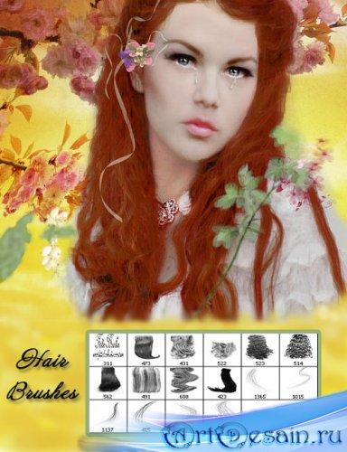 Кисти для фотошоп - Женские волосы 2