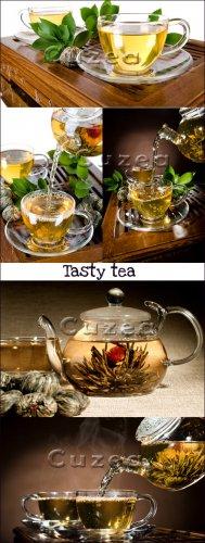 Ароматный чай- растровый клипарт