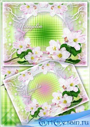 Рамка для фото – Яблоневый цвет - лепестков ткань