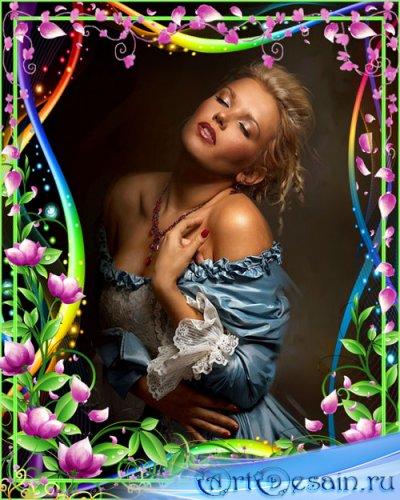 Рамка для фотошопа - Чарующая нежность цветочных лепестков