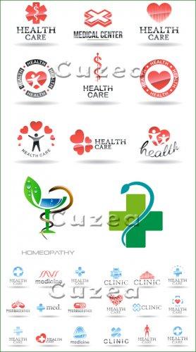 Коллекция иконок и медицинских логотипов для вашего дизайна - векторный кли ...
