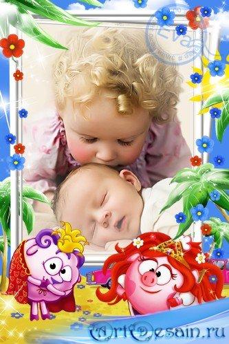 Детская рамочка для фотографий - Мои любимые Смешарики