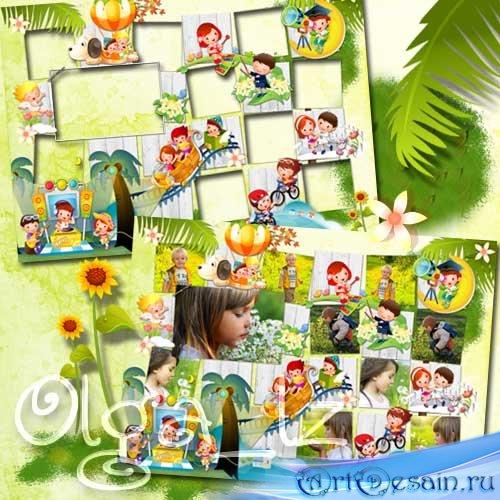 Детская виньетка - Мир солнечного детства