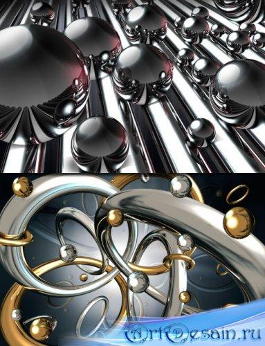 PSD-исходники - Металлические хромированные шары и кольца
