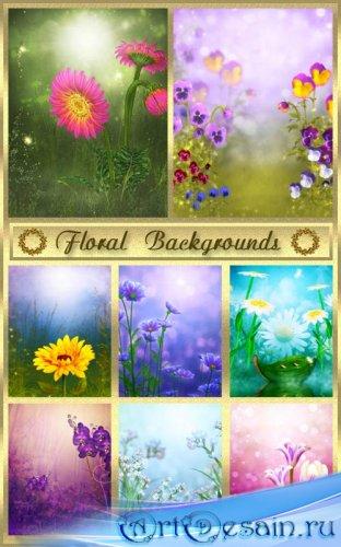 Цветочные фоны - 4