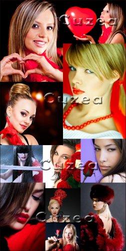 Мега- коллекция очаровательных девушек - Stock photo