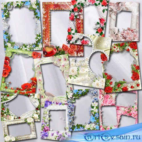 Большой сборник цветочных фоторамок на любой вкус