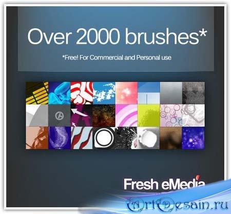 Набор 2000 Кистей для Photoshop