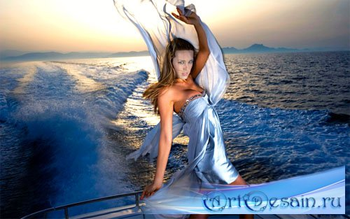 Шаблон для фотошопа - морская прогулка