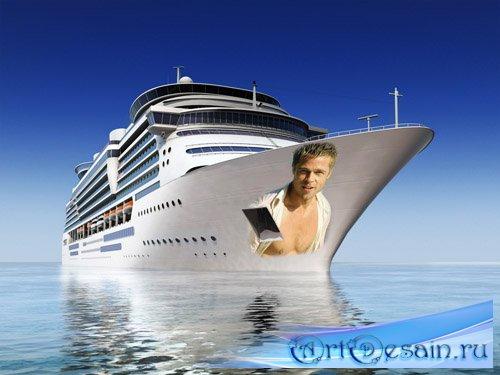 Мужская рамка - фото на лайнере