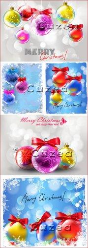 Декорации к рождеству и новому 2013 году в векторе, часть 2
