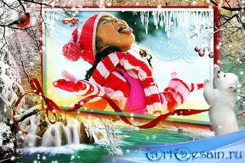 Детская рамочка для фотографий - В зимнем лесу