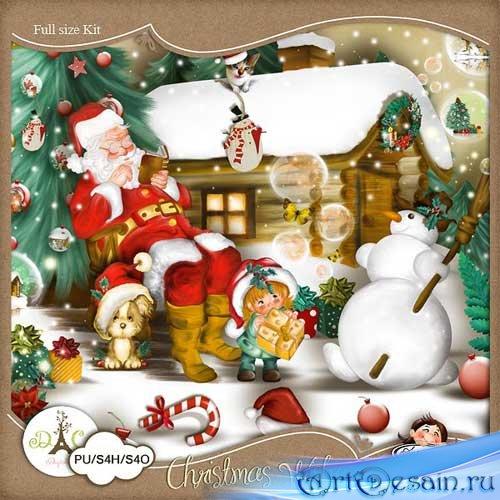 Рождественнский скрап набор - Рождественские пожелания