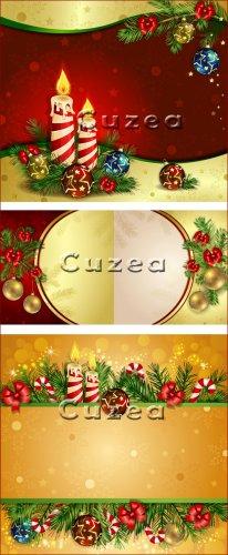 Декор к рождеству в векторе, часть 2
