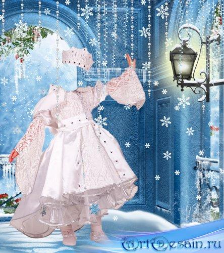Шаблон для фотошопа – Маленькая снежная королева