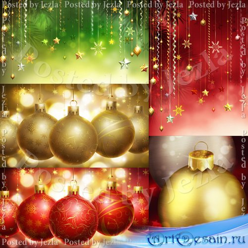 PSD Исходники - Новогодние Игрушки, Елочные Украшения (Christmas Toys)