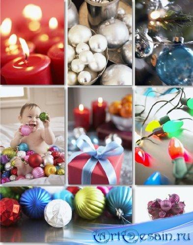 Новогодний клипарт - Подарки и украшения